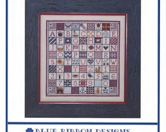 Stitches, Stars, and Stripes - A Sampler for Vicki (BRD-032) Cross Stitch Design