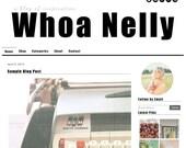 Premade Blogger Template Design - Whoa Nelly - blog template - black, white, minimalist, modern