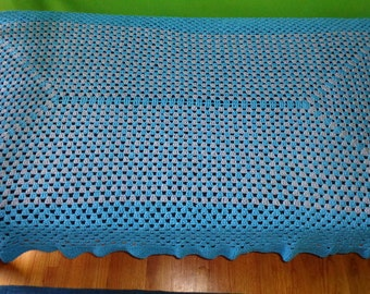 Custom Crocheted Bedspread / Crocheted Twin Quilt / Bedroom Decor / Crochet Afghan / Warm Blanket / Unique Throw / Handmade Bedspread