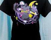 Midnight Dream Banette Ghost Pokemon Graphic T Shirt Kawaii Fairy Kei Pastel Goth