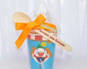 CLOWN Carnival game Ice Cream TUMBLER Cup a Disposable Fun & Affordable Event Favor/ PoPcorN/ Ice CrEaM -Smoothie-craft supply for Easy DIY