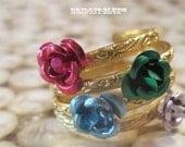 Rose stacking rings set of 4