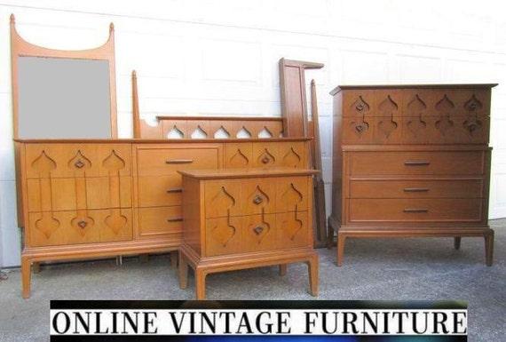 Rare 1960s Bedroom Set Dresser Credenza By Onvintagefurniture