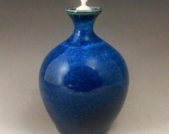 Ceramic Oil Lamp: Ocean Blue