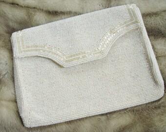 Vintage Italian Glass Micro Bead La Regale Clutch/Handbag