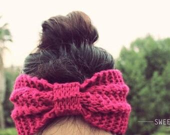 Knit Turban Headband, Knit Headband, Knit Beanie, Turban, Cute Turban Headband, Ear Warmer, Winter Hairband