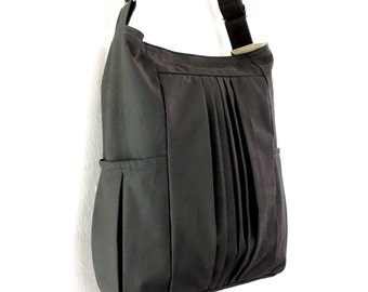 Handbags Cotton bag Canvas Bag Diaper bag Shoulder bag Hobo bag Tote bag Messenger Purse Everyday bag  Dark Gray  Paula
