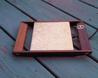 Mid Century Walnut Electric Hotplate