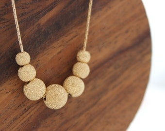 Gold stardust necklace • Gold necklace • Stardust gold beads on a necklace • Gift for her