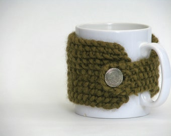 Knit Cup Cozy Moss Green / SALE