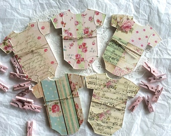 Baby Shower GUEST BOOK ALTERNATIVE, Country Chic, Baby Shower Advice Cards