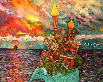 """Canvas Art Print """"Warm Waters""""  size 18/24 inch"""