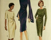 Dress, Sleeve Variations - 2000's -  Vogue Pattern 7762 Uncut   Sizes 6-8-10  Bust 30.5-31.5-32.5""