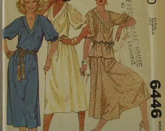 Dress, Top & Skirt -1970's - McCall's Pattern 6446 Uncut   Sizes 6-8  Bust 30.5 - 31.5""