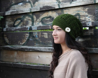 Crochet PATTERN Hillary Slouch Hat pdf
