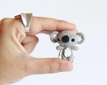 Little Koala Amigurumi Keychain