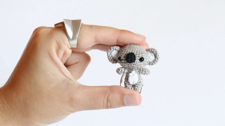 Amigurumi Koala Keychain : Little Koala Amigurumi Keychain