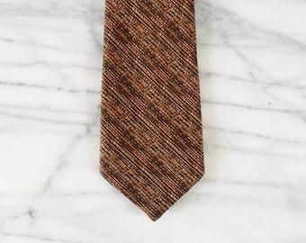 Vintage Autumn Stitched Striped Tie