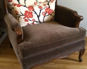 Vintage Chair Wingback French Country Rustic Chair