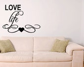 Love life Wall Decal Quote Vinyl Sticker Home Decor Removable Letters Quote Art (219)