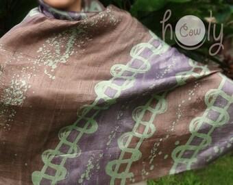 Brown Silk Scarf, Silk Scarf, Brown Silk Shawl, Silk Shawl, Boho Scarf, Boho Shawl, Hippie Scarf, Hippie Shawl, Handwoven Scarf, Shawl