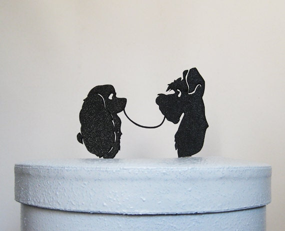 Wedding Cake Topper Lady And The Tramp Silhouette Wedding