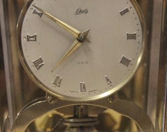 Vintage German Schatz 400 Brass Desk Clock