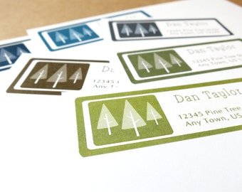 Pine Tree Address Labels, Pine Tree Return Address Stickers, Personalized Return Address Label stickers, 60 Labels, Pine Tree Wedding Labels
