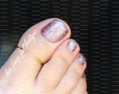 SALE - Big Toe Ring - Gold - Noodle - Stretch Bead Toe Ring