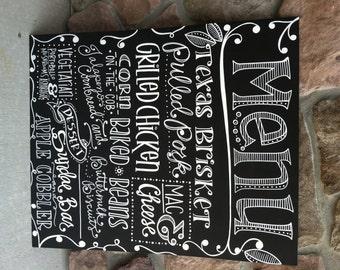 Handwritten 20x24 Custom Chalkboard Sign