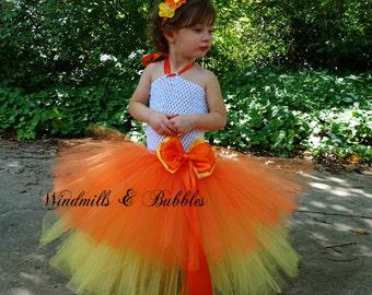 Candy Corn Tutu Dress and Headband set