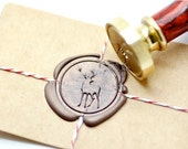 B20 Wax Seal Stamp Woodland Animal Deer