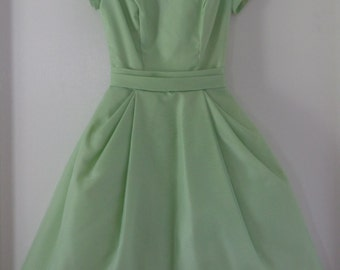 Sylvia Ann  Old New Look  Modern Lime Green Party Dress