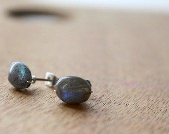 1 Pair RAW Labordorite Pretty Stainless Steel Chakra Earring GENUINE Crystal Natural earrings healing jewelry healing crystals
