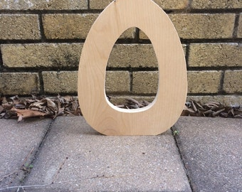 6 to 10 Inch Unfinished Wooden Letter O