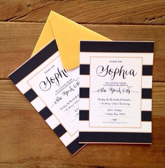 Black & White Invitations with nice invitation ideas