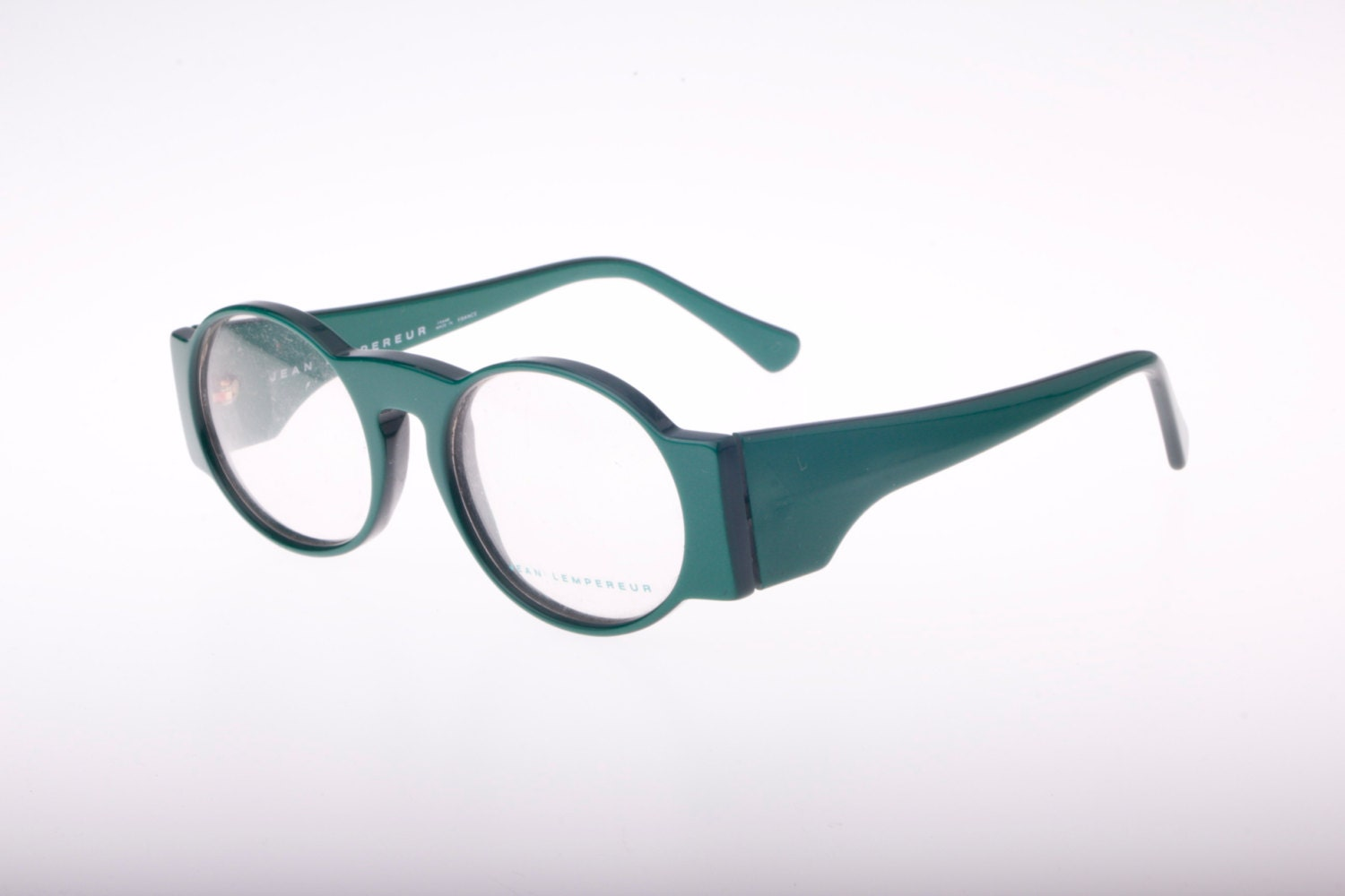 Quirky Eyeglass Frames : Super hip and unusual Jean Lemperer round oval green ...