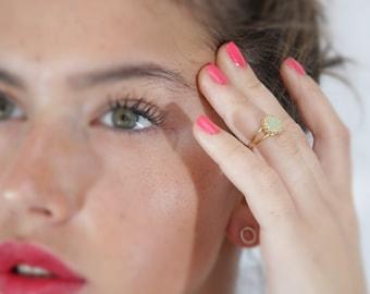 jade ring, green jade ring, gemstone ring, gold jade ring, jade stone ring, jade jewelry - 4441