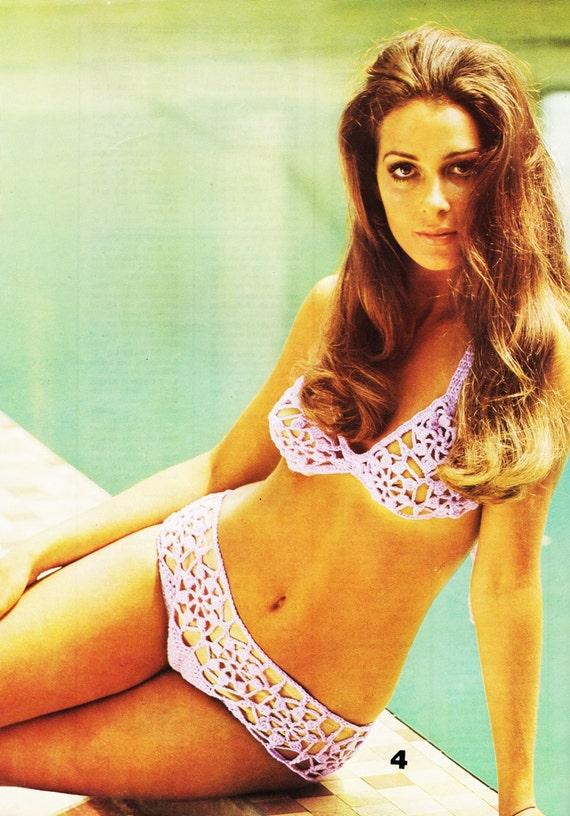 70s Summer Crochet Bikini Bathing Suit Pattern Pdf