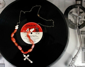 Carnelian Cross necklace