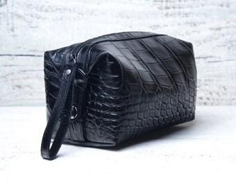 Personalized leather dopp kit bag shaving toiletry case toiletry case toiletry bag shaving kit shaving kit bag