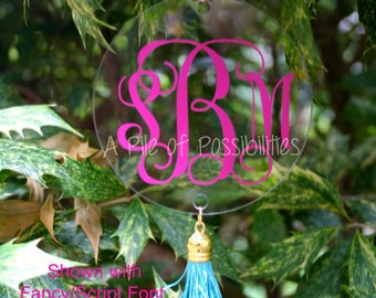 Monogrammed/Personalized Tassel Ornament