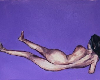 Giclee Art Print 8 x 12 inches - from original oil painting of female figure by Meredith O'Neal