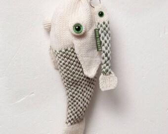 fish bag with keyring fish
