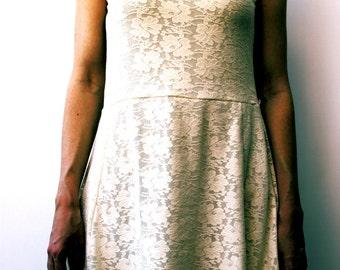 Summer dress. Ideal gift for her. Vintage clothes. Sweet dress.Flower party dress. Girl vintage dress flower.
