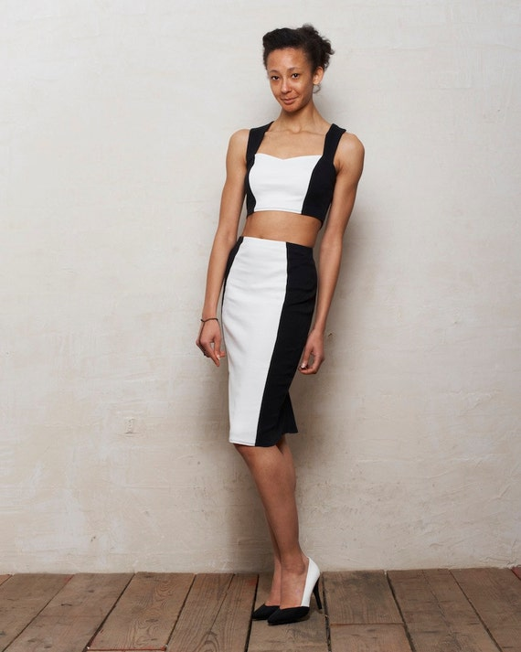 kirsten two bralet and pencil skirt set in by stylec
