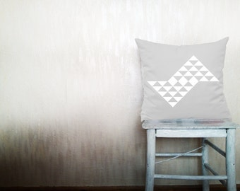 Triangle pillows decorative throw pillows geometric pillows chevron throw pillows Christmas pillows white arrow pillows 12x12 inches pillows