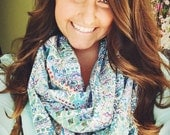 Vibrant Artifact Blue Infinity Scarf