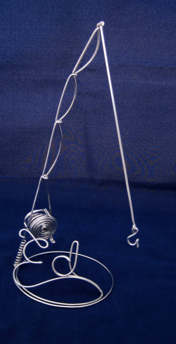 Wire personalized name with fishing pole for Wire fishing rod