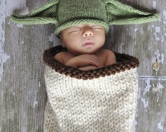 Baby Yoda Costume, Baby Yoda Hat, Newborn Yoda Hat, Yoda Costume, Newborn Photo Prop, Yoda Hat
